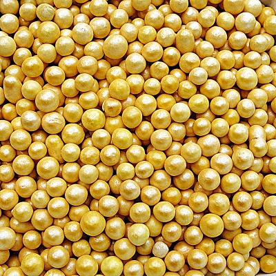 Gold 4mm Pearls