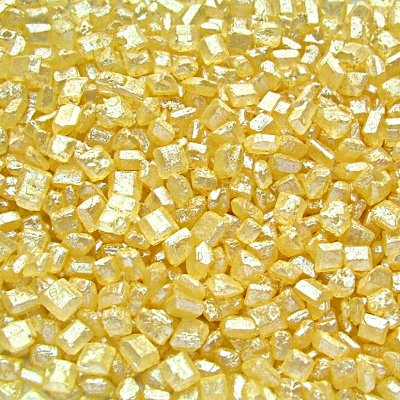Pearlised Yellow Sparkling Sugar Crystals