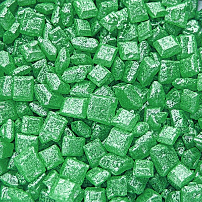 Pearlised Green Sugar Rocs