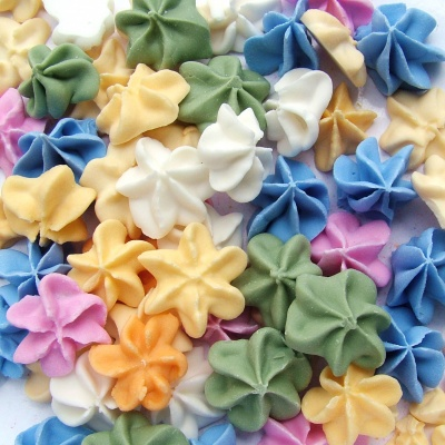 Pastel Rainbow 3D Sugar Flowers