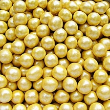 Pearlised Yellow 6mm Pearls
