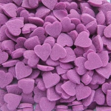 Purple Confetti Hearts