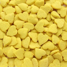 Yellow Confetti Hearts
