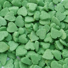 Green Confetti Hearts