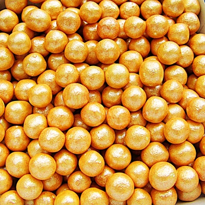 Pearlised Orange 6mm Pearls