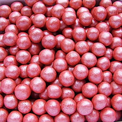 Pearlised Red 6mm Pearls