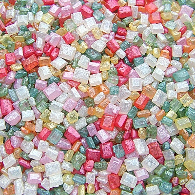 Pearlised Rainbow Sparkling Sugar Crystals