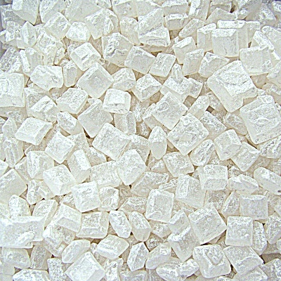 Pearlised White Sugar Rocs