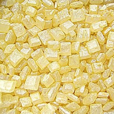 Pearlised Yellow Sugar Rocs