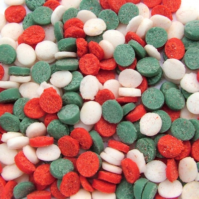 Red, Green and White Christmas Confetti Sequins