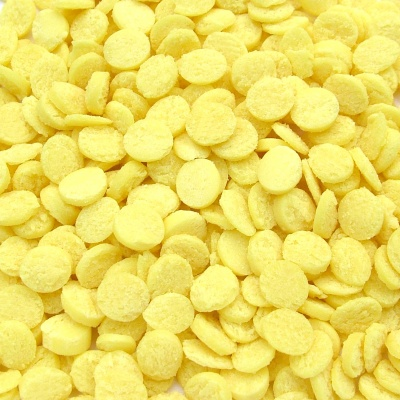Pastel Yellow Confetti Sequins