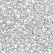 Pearlised White Sparkling Sugar Crystals